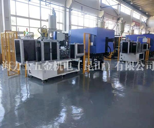 D32-D63电熔弯头管件自动设备-客户生产现场(共2套系统组成)