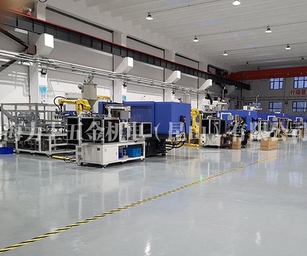 D75-D125电熔管件自动设备-客户生产现场(共4套系统组成)
